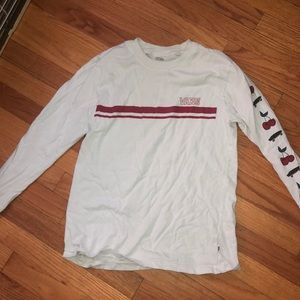 Vans Cherry White and Red Long Sleeve T-Shirt